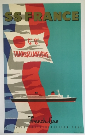 SS FRANCE CGT FRENCH LINE LE HAVRE / SOUTHAMPTON / NEW YORK